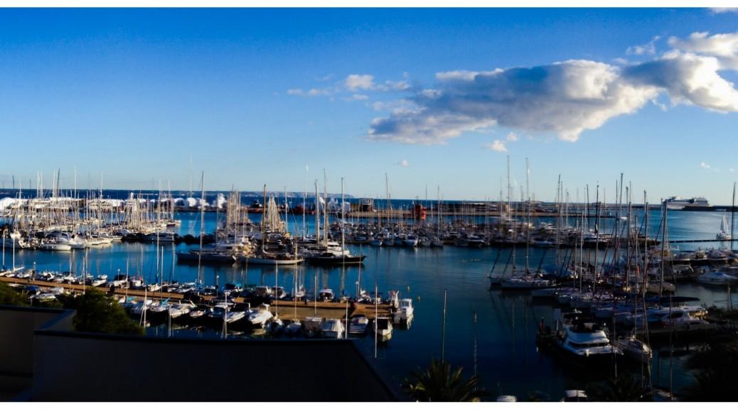 Blick vom Hotelbalkon des Costa Azul