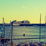 Ein Kreuzfahrtschiff im Hafen ist immer ein Highlight.