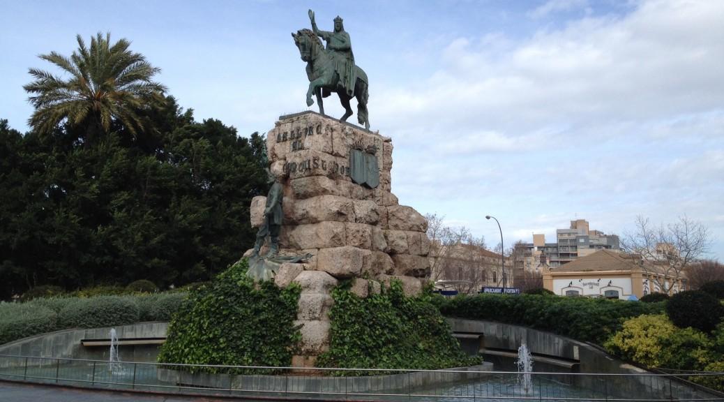 auf der Plaça d'Espanya