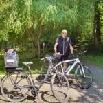 E-bikes ge- und beladen