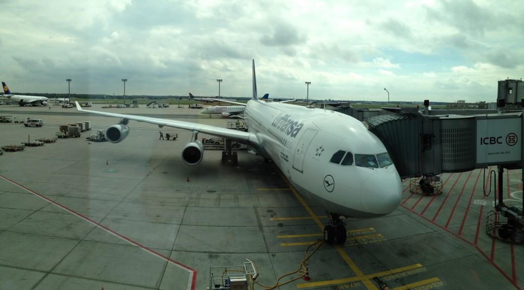 Dieser Airbus A340-400 brachte uns von Frankfurt nach Montreal