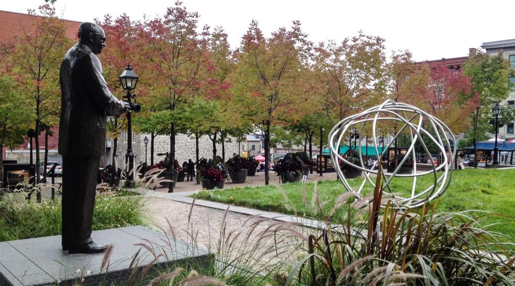 Ruhe neben dem turbulenten  Platz Jacques Cartier.