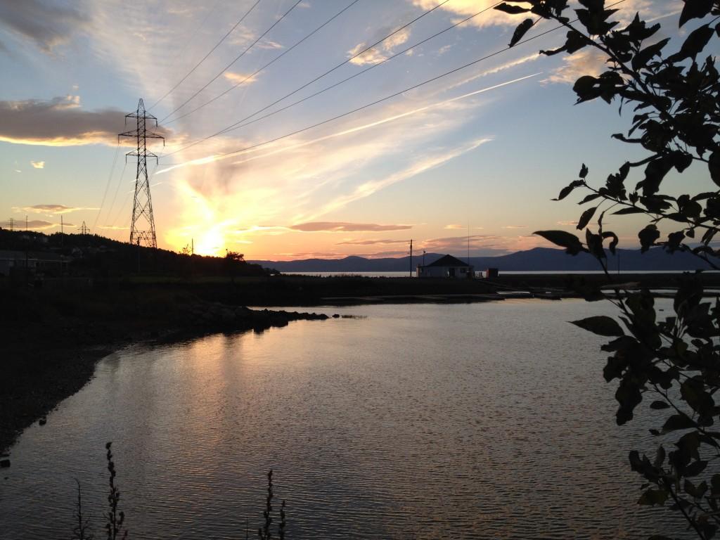 Sonnenuntergang am St. Lorenz-Strom