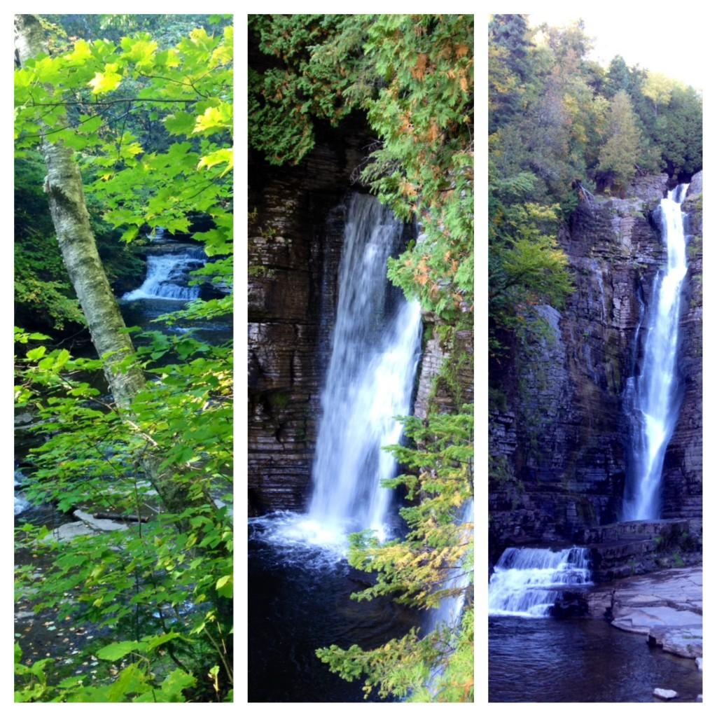 Wir wandern den Chemin des chutes - also den Wasserfall-Wanderweg.