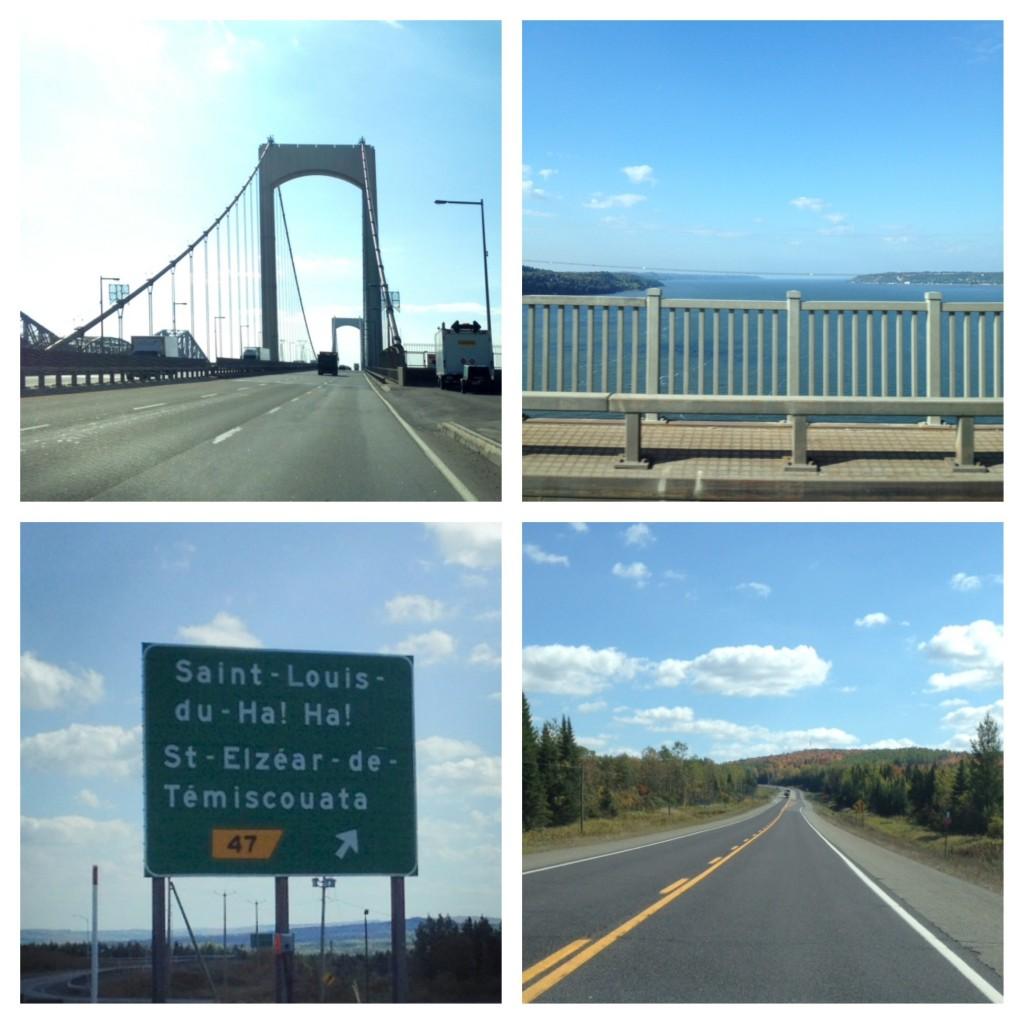 Über den Pont (Brücke) Pierre Laporte geht es aus der Stadt Quebec in Richtung Highway 20, der uns nach Osten führt.