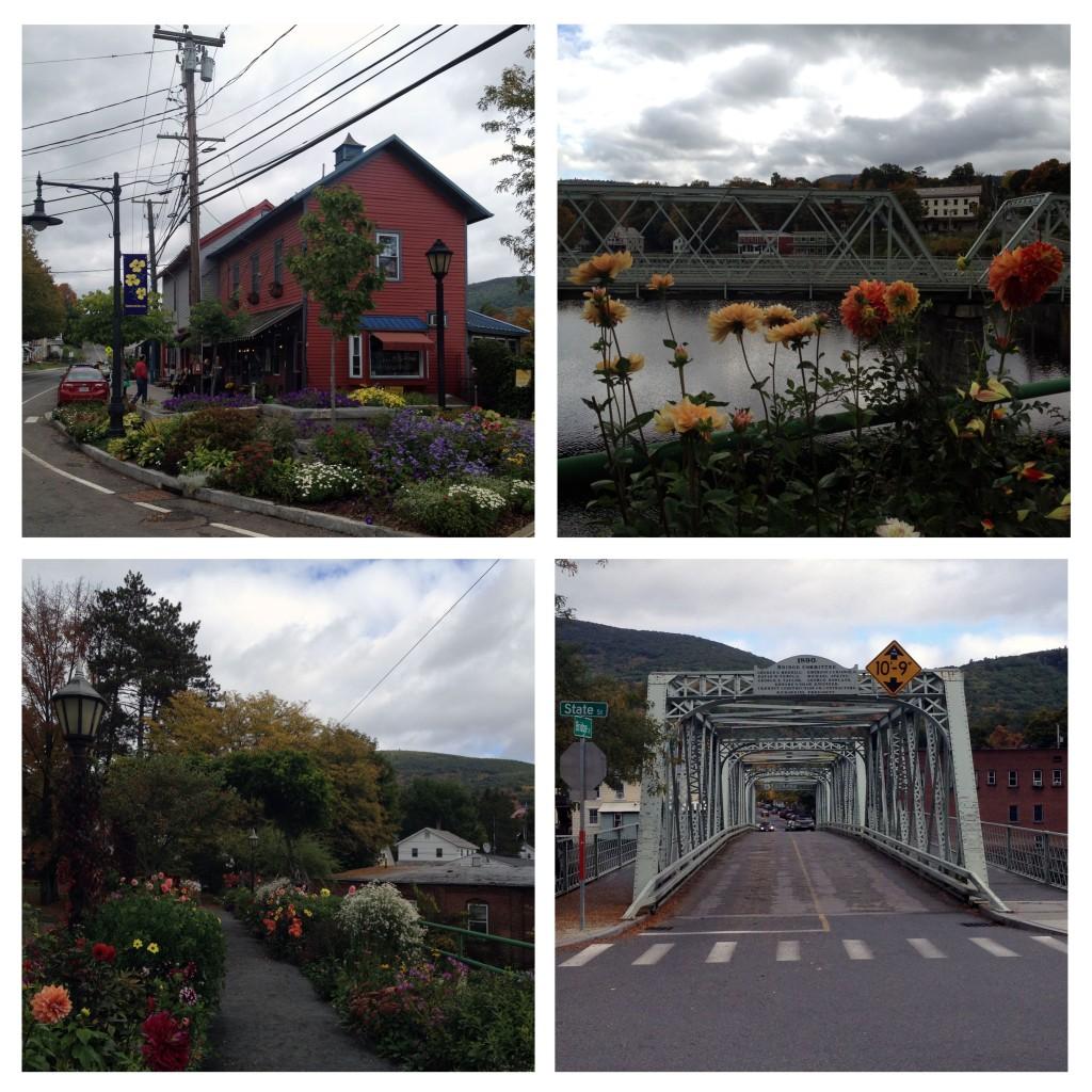 Shelburne Falls und die Blumen-Brücken