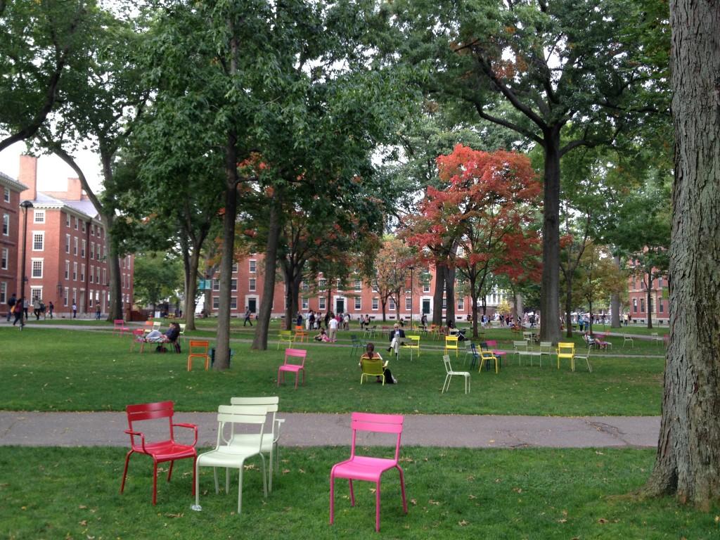 Der Harvard Campus lädt zum Verweilen ein