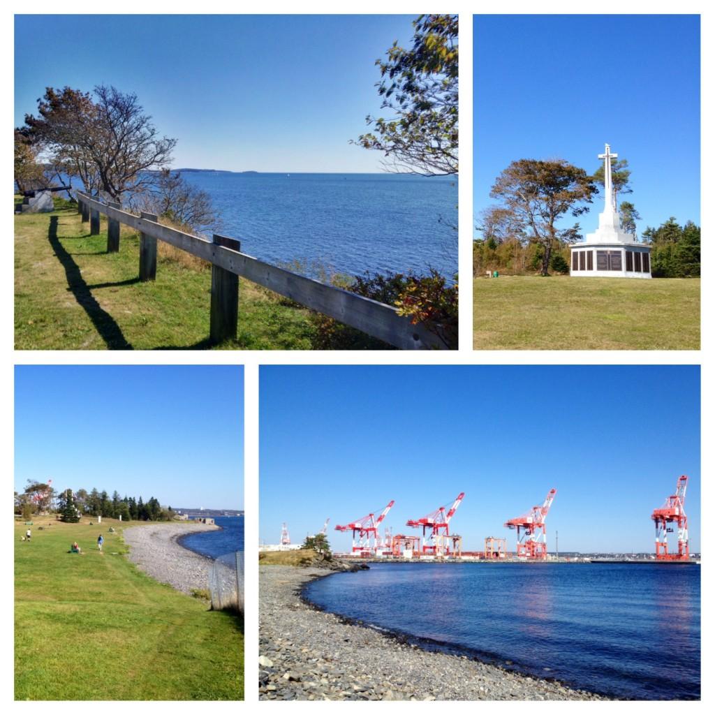 Das Naval Memorial, der Strand und der Frachthafen